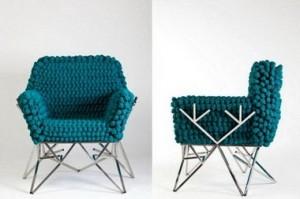 Вязаное кресло из Fractal collection.